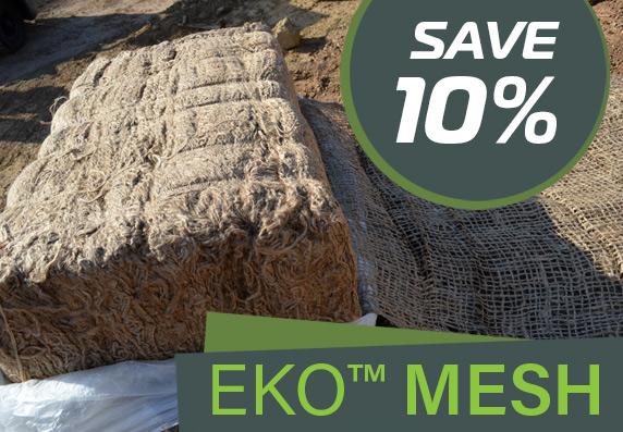 Save 10% on EKO Mesh 500gsm Jute Soil Saver - 550m Bale