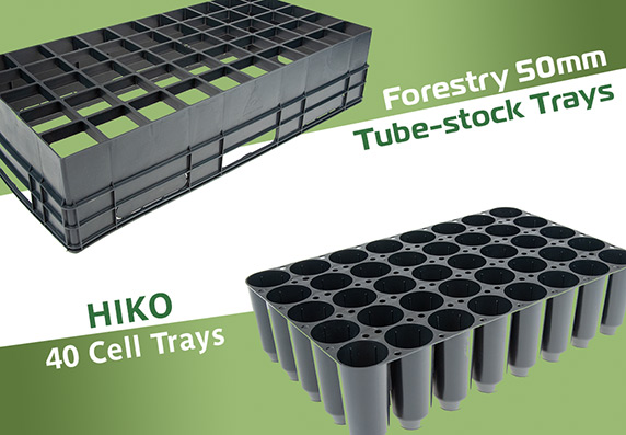 We sell Forestry 50mm Tube-stock Trays and Tubes, HIKO 40 Cell Trays
