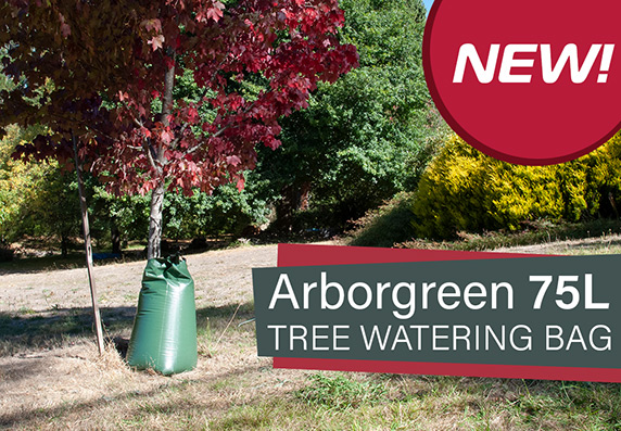 NEW - Checkout the Arborgreen 75L Tree Watering Bag