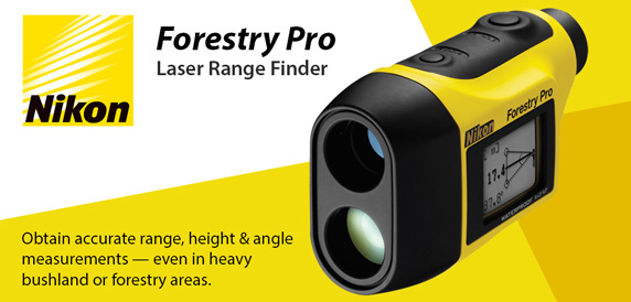 Nikon Forestry Pro Laser Range Finder - Waterpoof, obtain accurate range, height and angle measurements