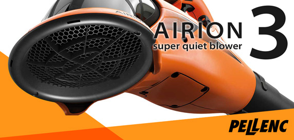 Airion 3 Super Quiet Battery Blower by Pellenc - Ideal for Councils and Urban Contractors