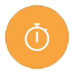 Stopwatch on orange icon