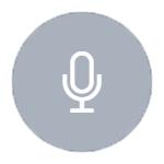 microphone outline on grey