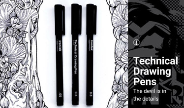 Ironlak Technical Drawing Pens