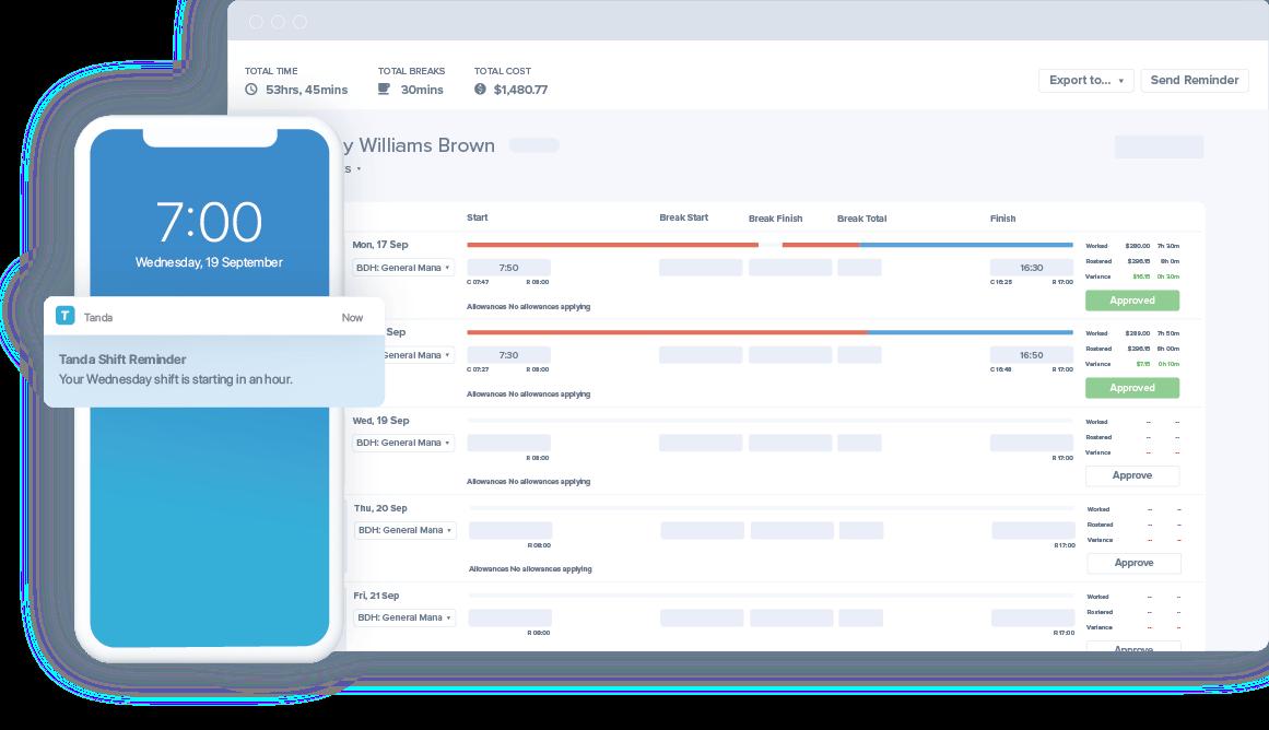 A screenshot of the Tanda visual interface