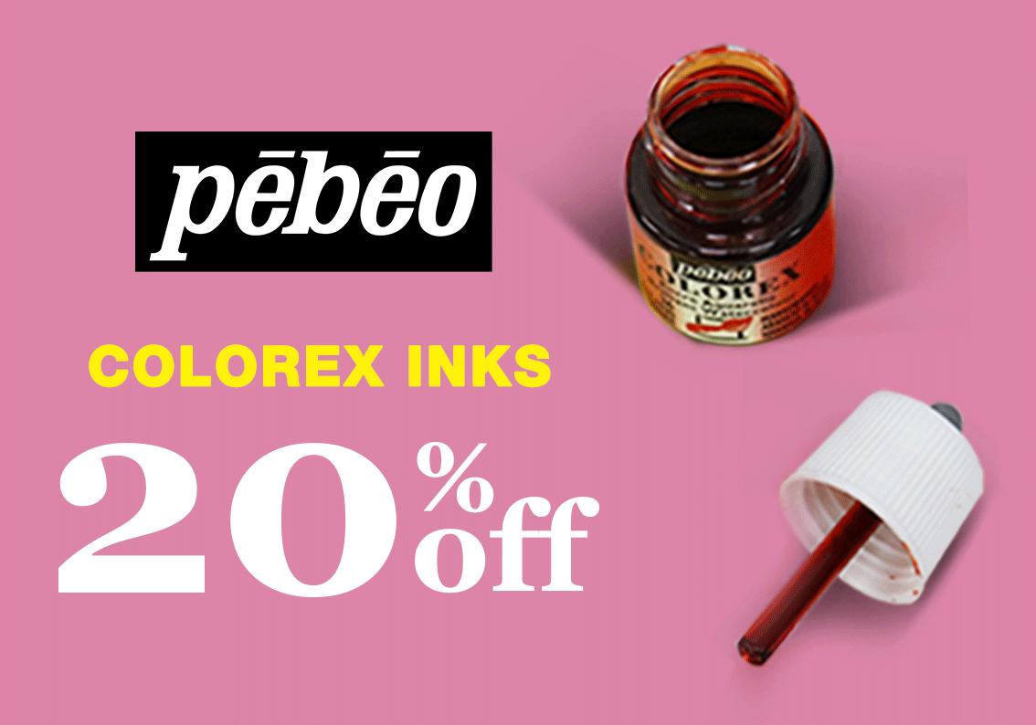 Pebeo Colorex inks sale