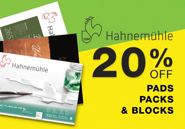 Hahnemuhle Pads Blocks and Packs Sale