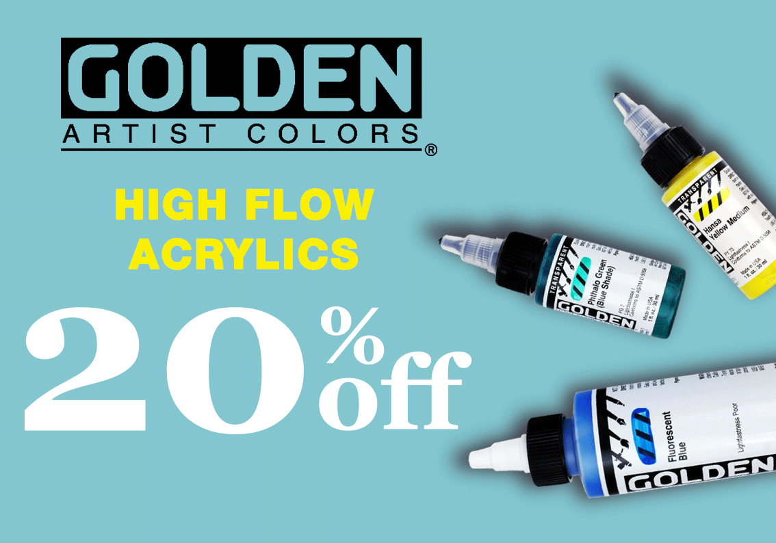 Golden High Flow Acrylics Sale