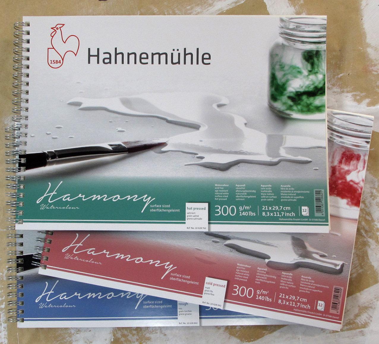 Hahnemuhle Harmony Watercolour Spiral Pad Hot Pressed A4