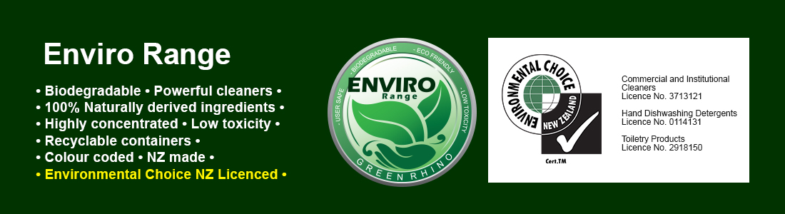 Environmentally Friendly, Biodegradable Cleaning Chemicals by Green Rhino