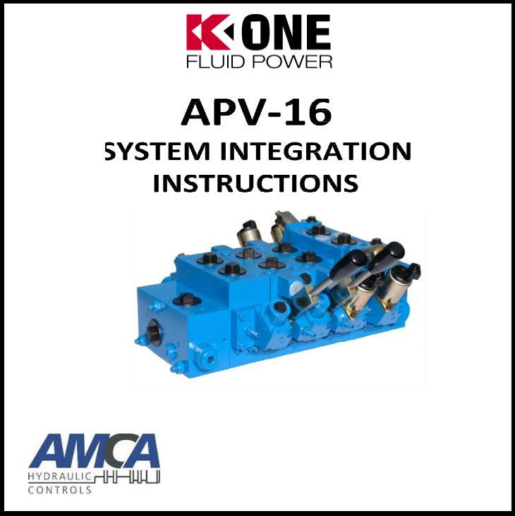 AMCA hydraulic system integration instructions