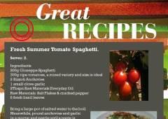 Fresh Summer Tomato Spaghetti