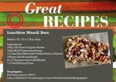 Lunchbox Muesli Bars