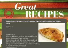 Recipe Caulieflower calzone