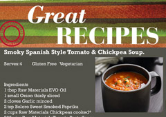Smokey Spanish Style Tomato & Chickpea Soup
