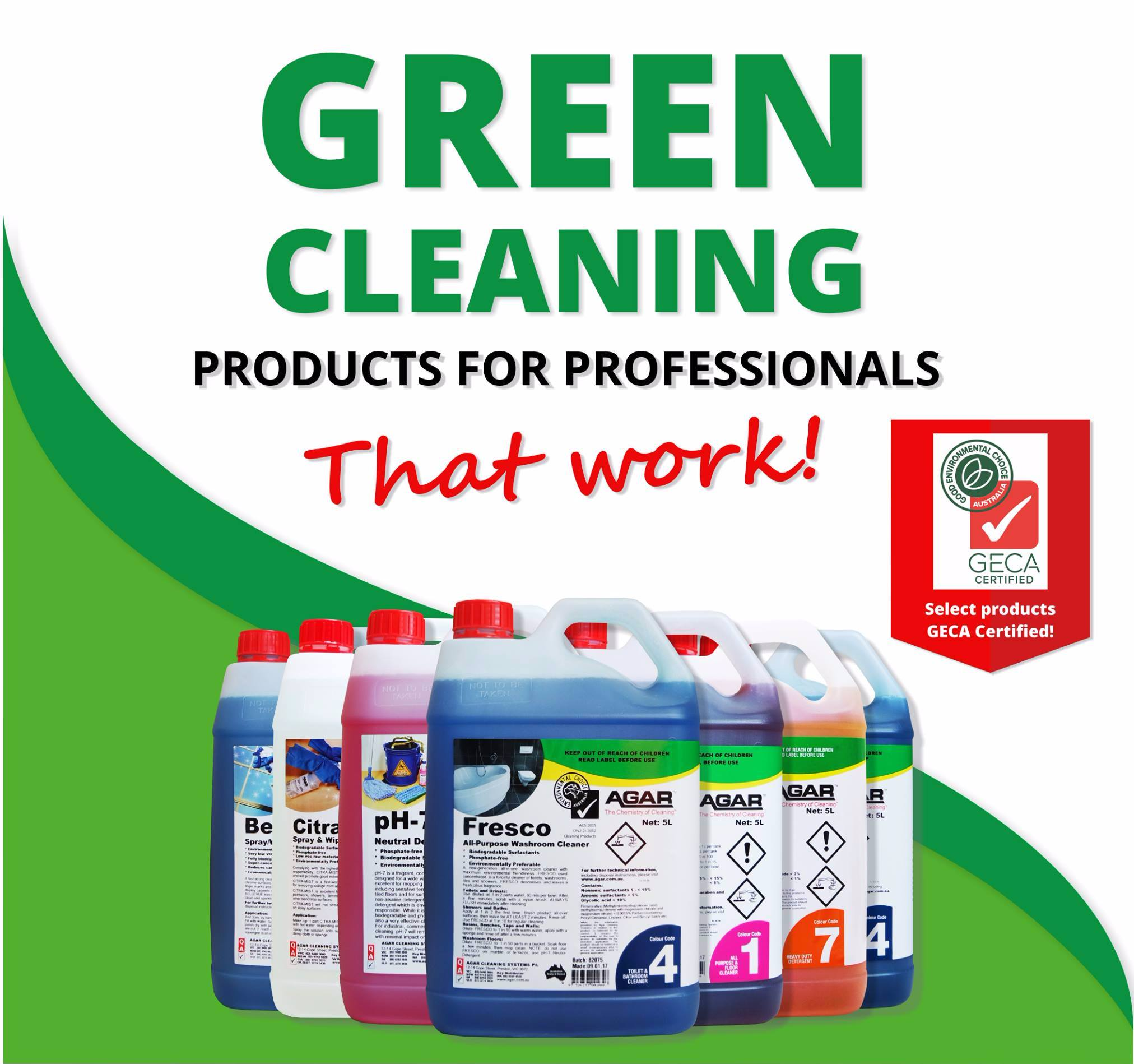 Geca Certified Green Choice Cleaning Products