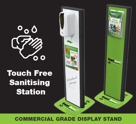 Premium Touch Free Hand Sanitising Station