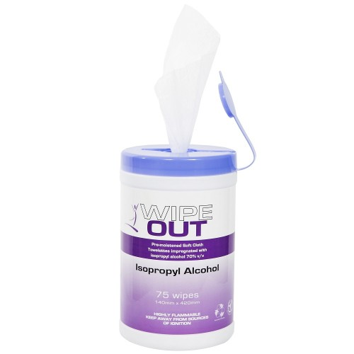 Wipe Out Isopropyl Alcohol Wipes