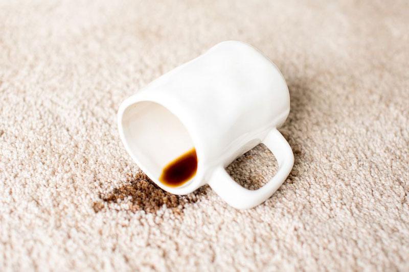 Coffee carpet spill