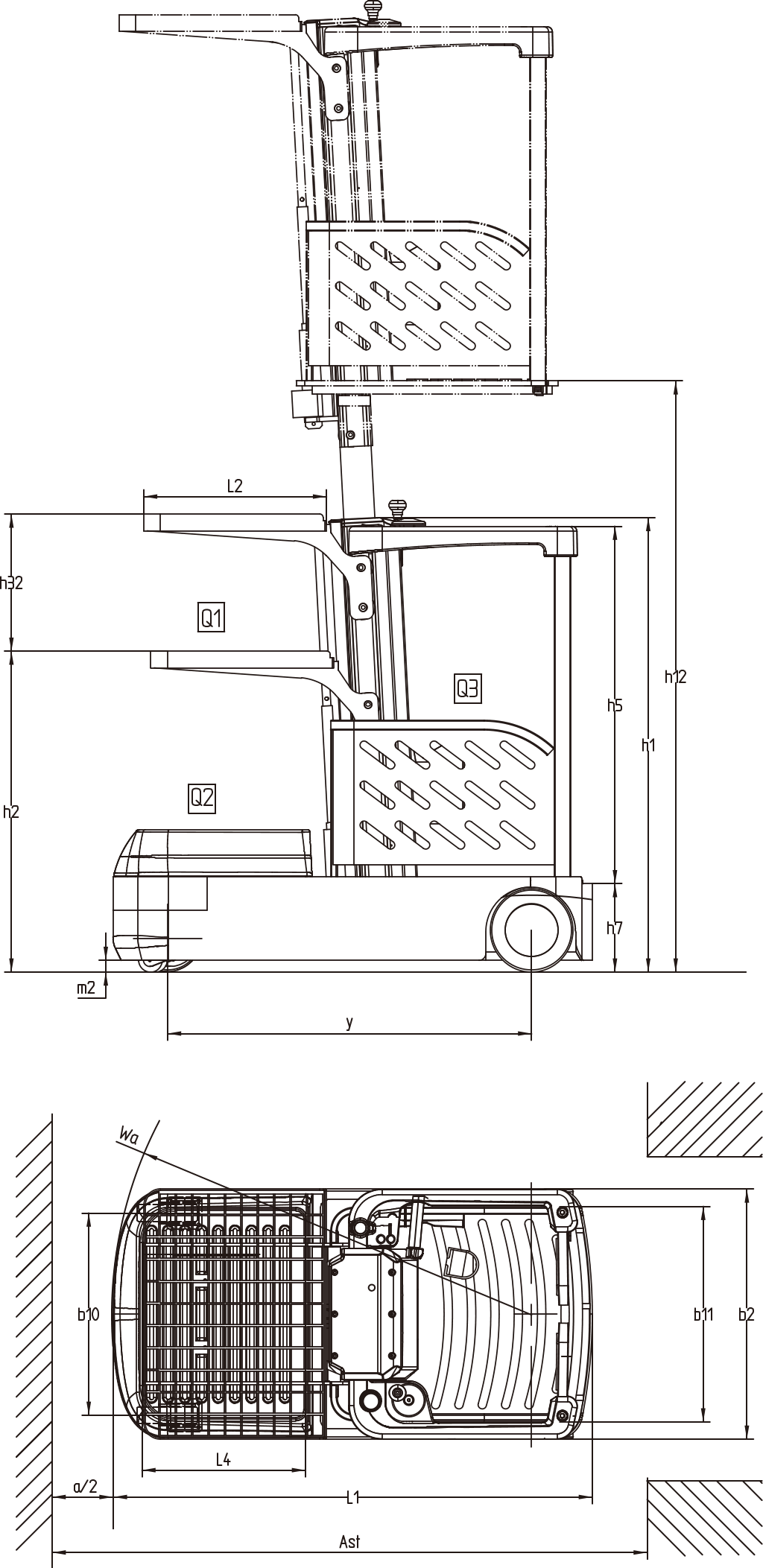 JX0 isometric view and dimensions