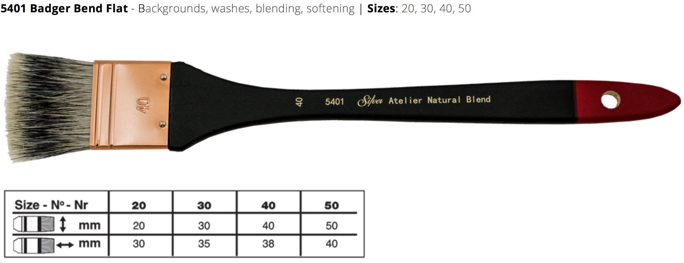 5401 silver brushes
