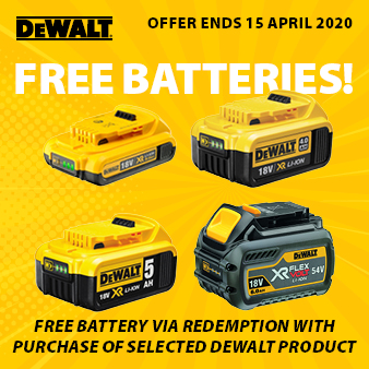 DeWalt Free Batteries