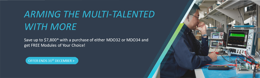 Arming the multi-talented with more -  Save up to $7,800* with a purchase of either MDO32 or MDO34 and get FREE Modules of Your Choice!