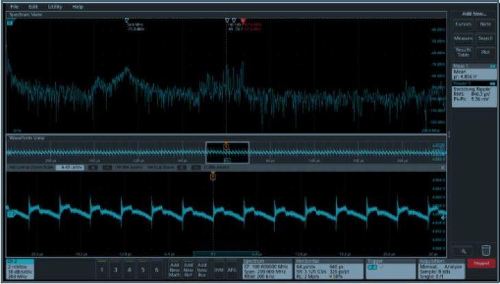 Tektronix 4 Series MSO power integrity measurements and analysis