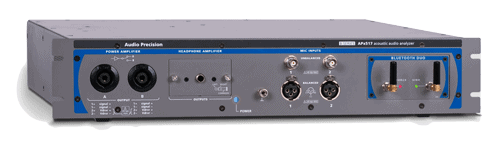 APx517B Acoustic Analyser front 3-4