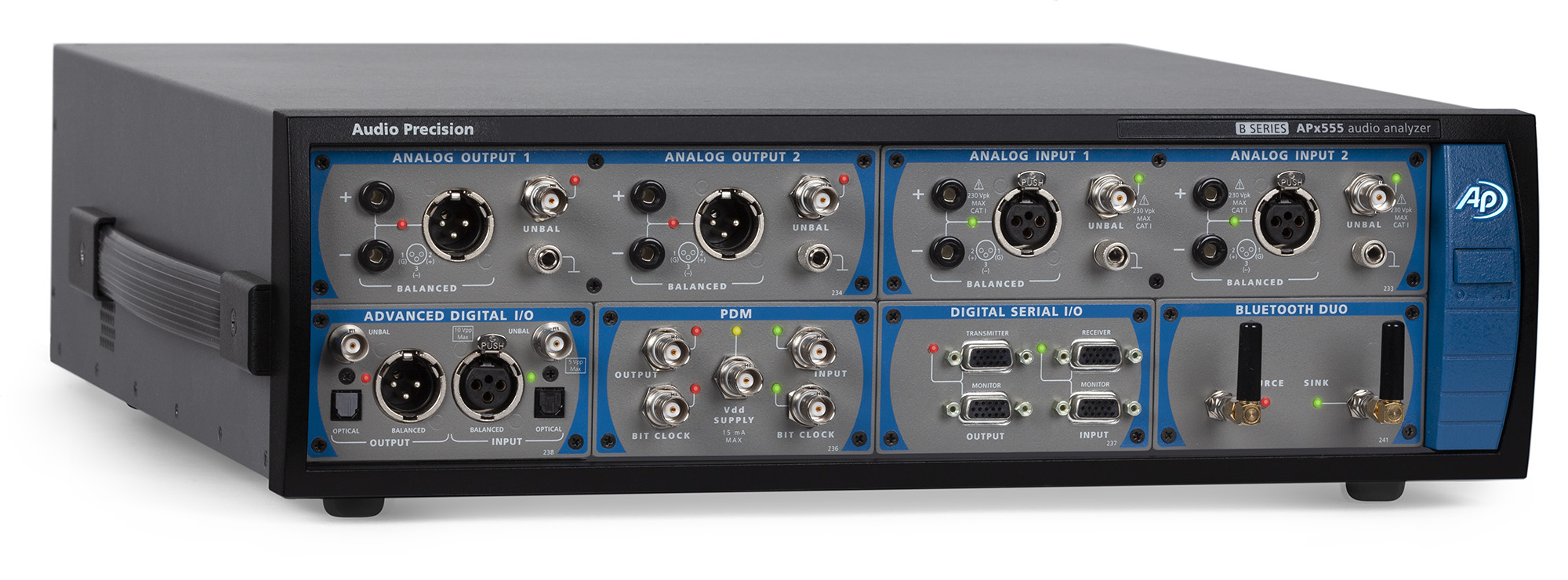 Audio Precision APx5550 B Series audio analyser front 3-4