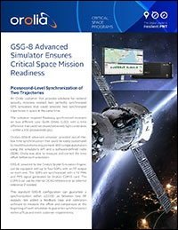 Orolia GSG-8 Application - Space Mission Readiness