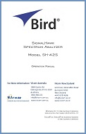 Bird SignalHawk SH-42S Operation Manual
