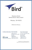 Bird SignalHawk SH-60S Operation Manual