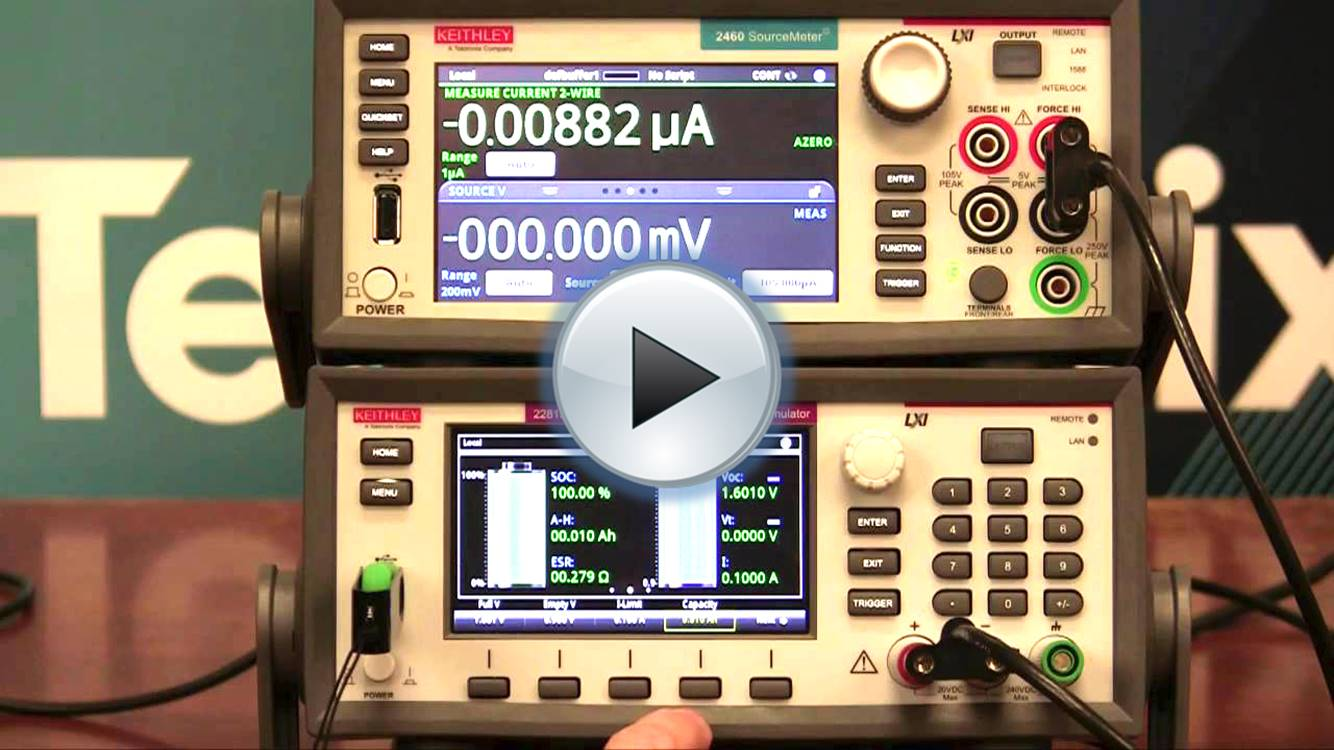 Keithley 2450, 2460, 2461 Application - Battery Simulation profile