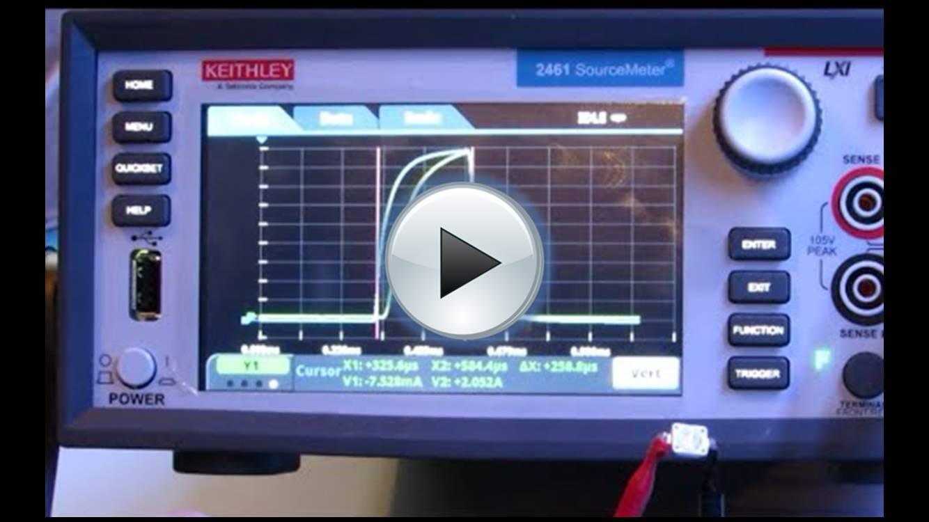 Keithley 2450, 2460, 2461 Demonstration - digitising capabilities