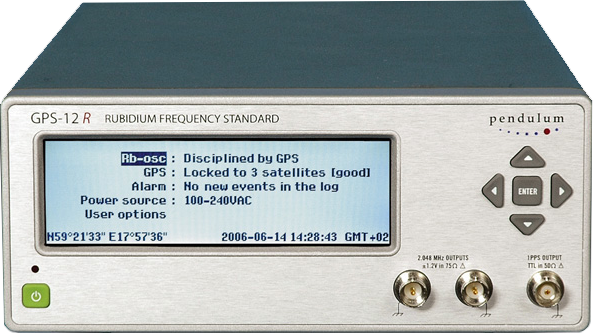 Pendulum GPS-12R Frequency Standard