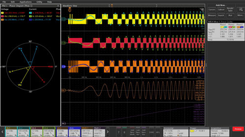 Tektronix 6 Series B MSO 3-phae Invertors, Motors and Drives testing