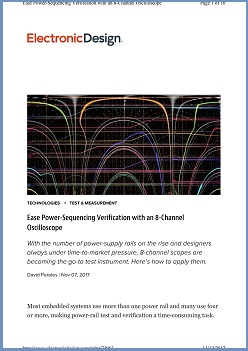 Electronics Design Article - Power Sequencing Verification