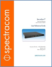 Spectracom SecureSync On-line User Reference Guide