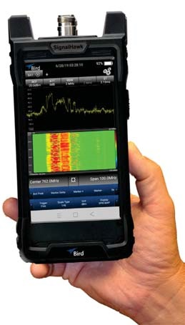 Bird SignalHawk handheld spectrum analyser
