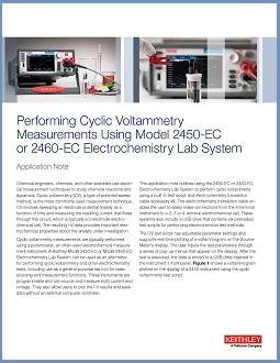 Cyclic Voltammetry Application Note