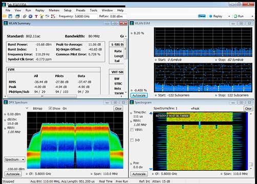 Tektronix RSA5000 Realtime Spectrum Analyser screenshot