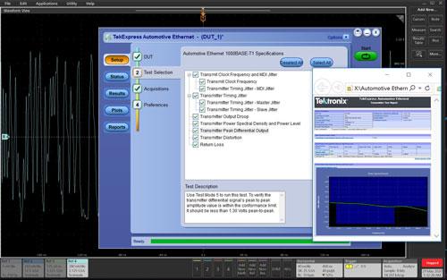 Tektronix 6 Series B MSO Serial Standards Compliance Testing