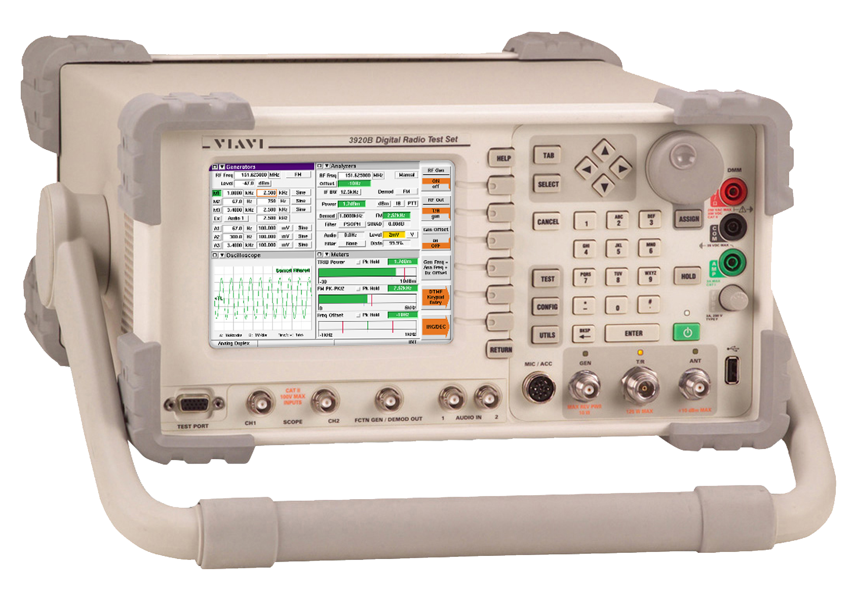 VIAVI 3920B Radio Test Set front qtr