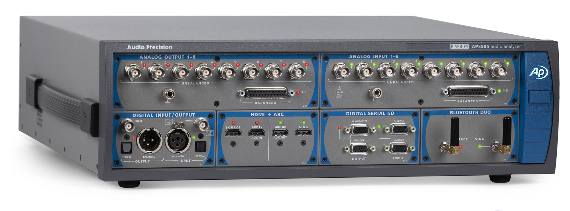 APx585 Audio Analyser front 3-4