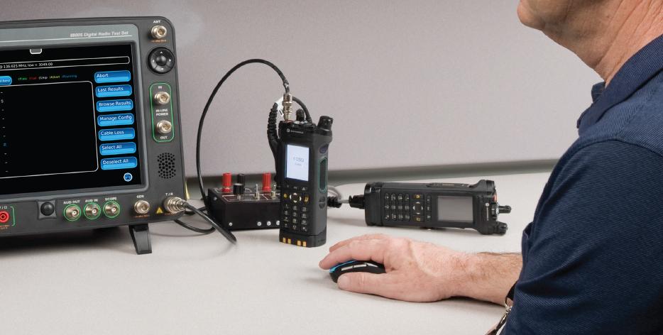 Radio testing with the Cobham 8800 radio test set