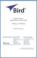Bird SignalHawk SH-60S Operation Manual