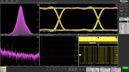 Tektronix 6 Series B MSO Jitter testing