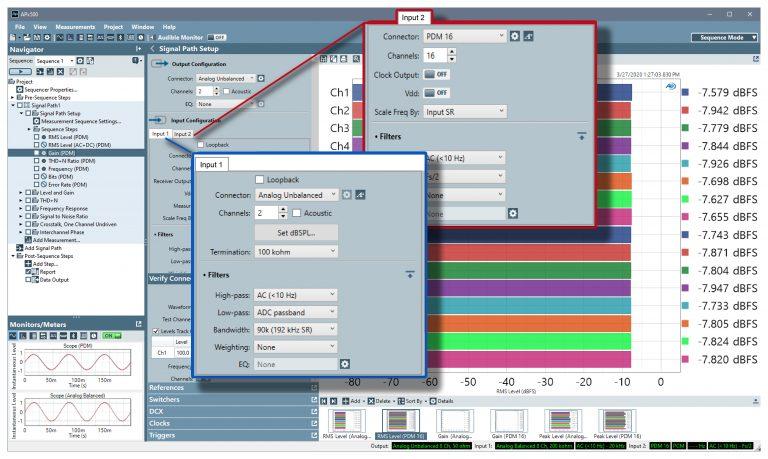 Audio Precision Multiple Simultaneous Inputs