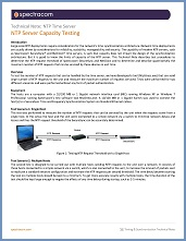 Tech Note: NTP Server Capacity Testing